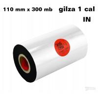 Taśma termotransferowa woskowo-żywiczna premium 110mm x 300mb IN TAŚMY TERMOTRANSFEROWE