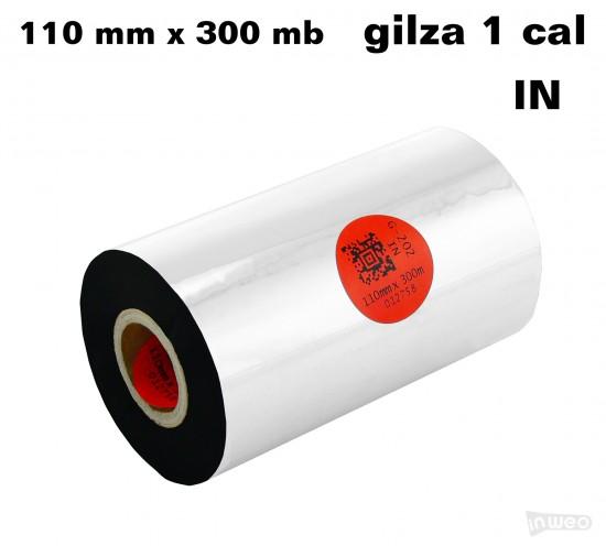 Taśma termotransferowa woskowo-żywiczna premium 110mm x 300mb IN
