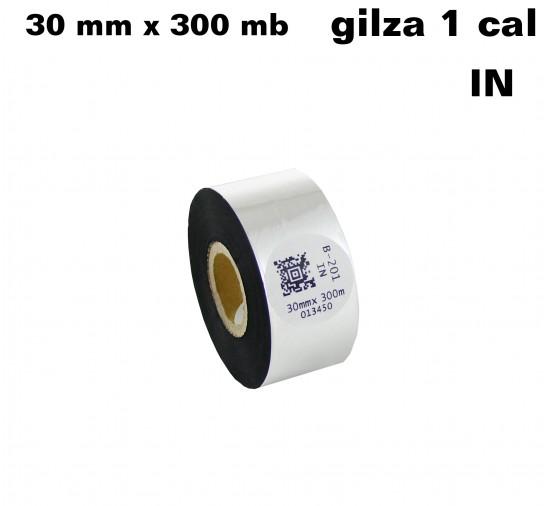 Taśma termotransferowa woskowo-żywiczna standard 30mm x 300mb IN