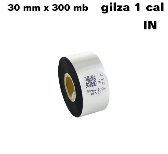 Taśma termotransferowa woskowa premium 30mm x 300mb IN