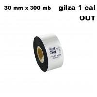 Taśma termotransferowa woskowa premium 30mm x 300mb OUT TAŚMY TERMOTRANSFEROWE