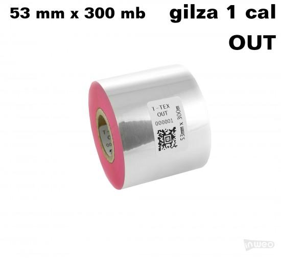 Różowa taśma termotransferowa żywiczna do tekstyliów 53x300 OUT