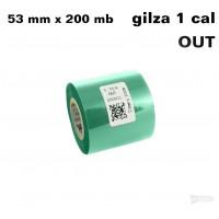 Zielona taśma termotransferowa żywiczna do tekstyliów 53x200 OUT Taśmy termotransferowe