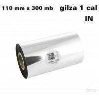 Taśma termotransferowa woskowa standard 110mm x 300mb IN