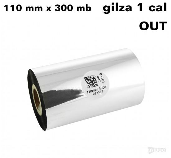Taśma termotransferowa woskowa standard 110mm x 300mb OUT
