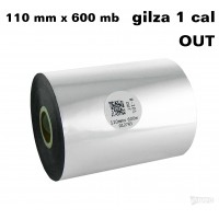 Taśma termotransferowa woskowa standard 110mm x 600mb OUT