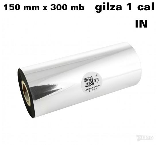 Taśma termotransferowa woskowa standard 150mm x 300mb IN