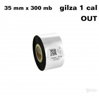 Taśma termotransferowa woskowa standard 35mm x 300mb OUT