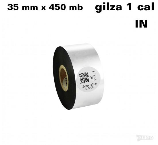 Taśma termotransferowa woskowa standard 35mm x 450mb IN