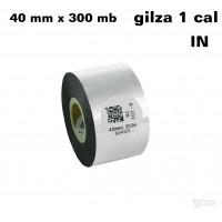 Taśma termotransferowa woskowa standard 40mm x 300mb IN