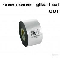 Taśma termotransferowa woskowa standard 40mm x 300mb OUT