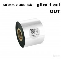 Taśma termotransferowa woskowa standard 50mm x 300mb OUT