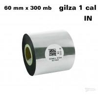 Taśma termotransferowa woskowa standard 60mm x 300mb IN