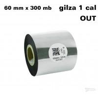 Taśma termotransferowa woskowa standard 60mm x 300mb OUT
