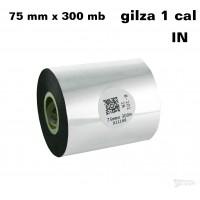 Taśma termotransferowa woskowa standard 75mm x 300mb IN