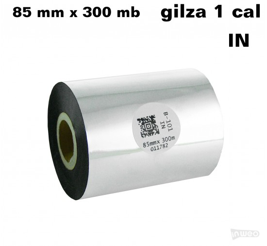 Taśma termotransferowa woskowa standard 85mm x 300mb IN