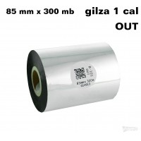 Taśma termotransferowa woskowa standard 85mm x 300mb OUT