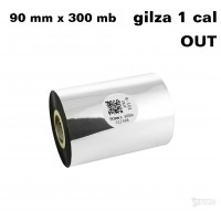 Taśma termotransferowa woskowa standard 90mm x 300mb OUT