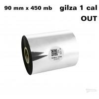 Taśma termotransferowa woskowa standard 90mm x 450mb OUT