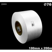 Biała taśma satynowa premium 100mm x 200mb