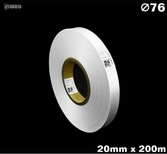 Biała taśma satynowa premium 20mm x 200mb