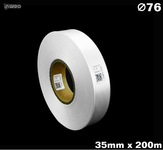 Biała taśma satynowa premium 35mm x 200mb
