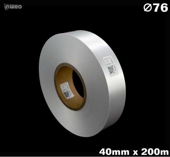 Biała taśma satynowa premium 40mm x 200mb