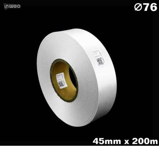 Biała taśma satynowa premium 45mm x 200mb