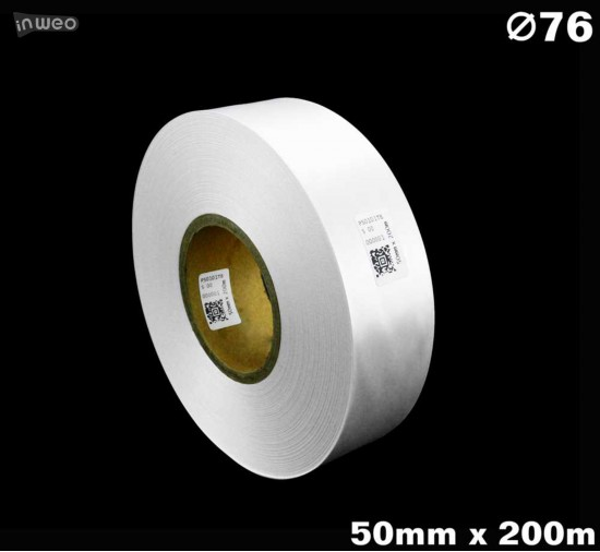 Biała taśma satynowa premium 50mm x 200mb