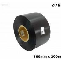 Czarna taśma satynowa premium 100mm x 200mb