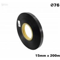 Czarna taśma satynowa premium 15mm x 200mb