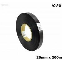 Czarna taśma satynowa premium 20mm x 200mb  CZARNA TAŚMA SATYNOWAPREMIUM