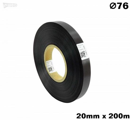 Czarna taśma satynowa premium 20mm x 200mb