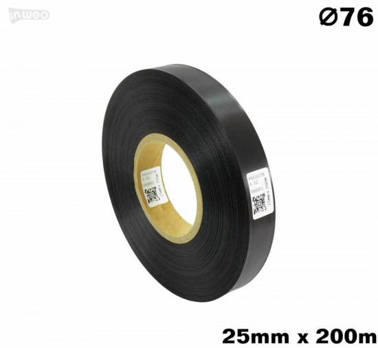 Czarna taśma satynowa premium 25mm x 200mb