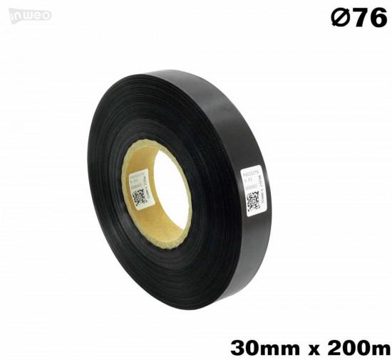 Czarna taśma satynowa premium  30mm x 200mb