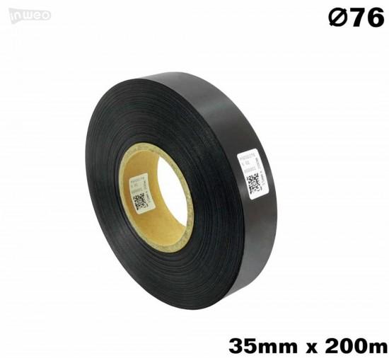 Czarna taśma satynowa premium 35mm x 200mb
