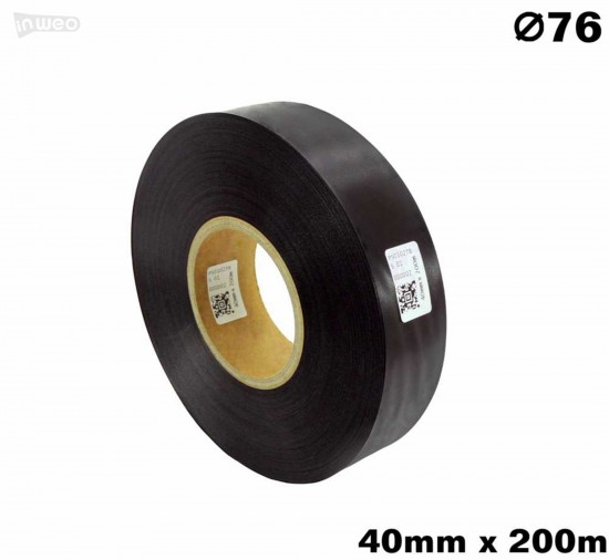 Czarna taśma satynowa premium 40mm x 200mb
