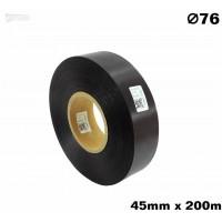 Czarna taśma satynowa premium 45mm x 200mb