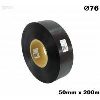 Czarna taśma satynowa premium 50mm x 200mb