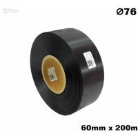 Czarna taśma satynowa premium 60mm x 200mb