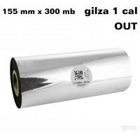 Taśma termotransferowa woskowa premium 155mm x 300mb OUT TAŚMY TERMOTRANSFEROWE