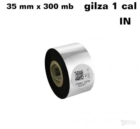Taśma termotransferowa woskowa premium 35mm x 300mb IN