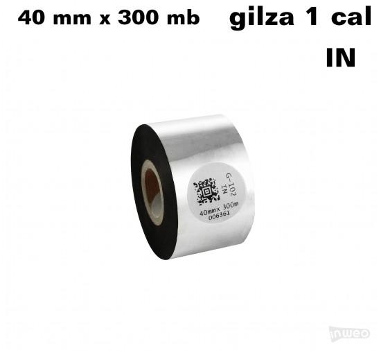Taśma termotransferowa woskowa premium 40mm x 300mb IN