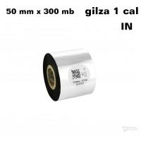 Taśma termotransferowa woskowa premium 50mm x 300mb IN TAŚMY TERMOTRANSFEROWE