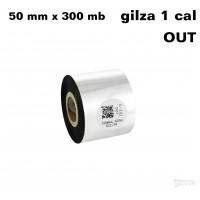Taśma termotransferowa woskowa premium 50mm x 300mb OUT TAŚMY TERMOTRANSFEROWE