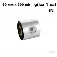 Taśma termotransferowa woskowa premium 60mm x 300mb IN TAŚMY TERMOTRANSFEROWE