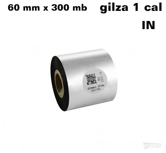 Taśma termotransferowa woskowa premium 60mm x 300mb IN