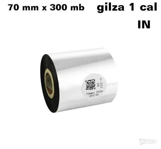 Taśma termotransferowa woskowa premium 70mm x 300mb IN