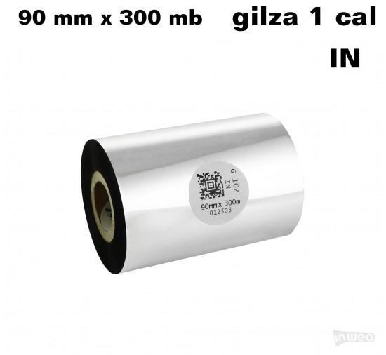 Taśma termotransferowa woskowa premium 90mm x 300mb IN