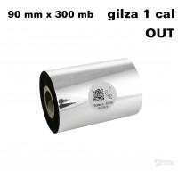 Taśma termotransferowa woskowa premium 90mm x 300mb OUT TAŚMY TERMOTRANSFEROWE
